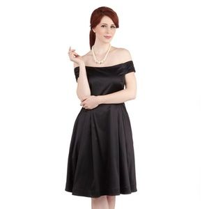 Sexy Black Pinup Off the Shoulder Cocktail Dress